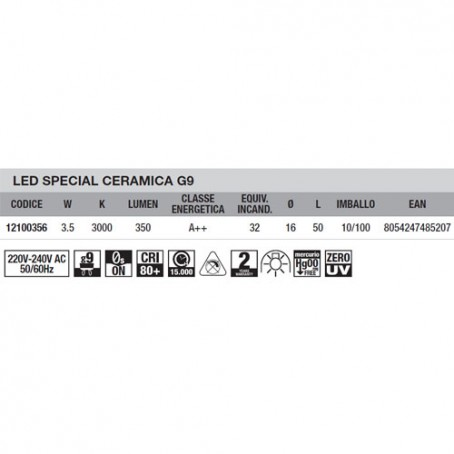 Wiva Led Special Deco G9 2,5W 3000K 12100341