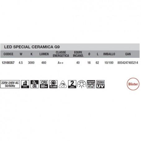 Wiva Led Special Ceramic G9 4,5W 3000K 12100357