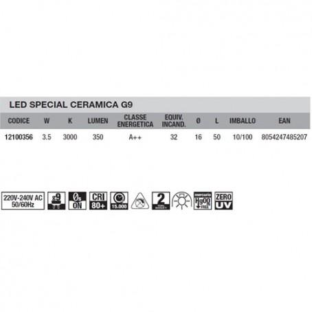 Wiva Led Special Ceramic G9 3,5W 3000K 12100356