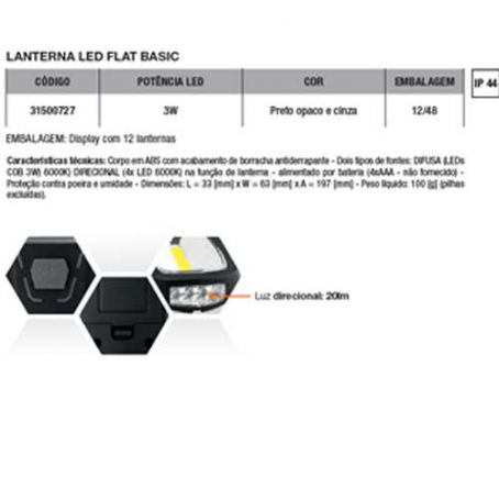 Wiva Lanterna Led Flat Basic 3W 31500727