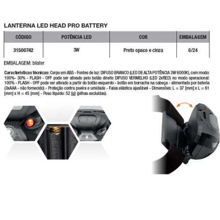 Wiva Lanterna Led de Cabeça Pro 3W 31500742
